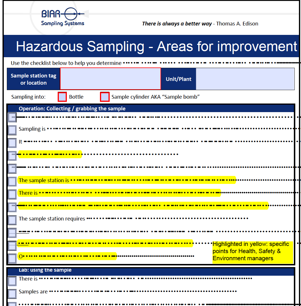Hazardous Sampling